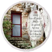 With Me - Quote Round Beach Towel