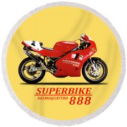 Ducati 888 Round Beach Towel