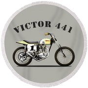 The Bsa 441 Victor Round Beach Towel