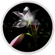 Lovely Lilies Partners Round Beach Towel