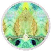 Abstract Art - Calm - Sharon Cummings Round Beach Towel