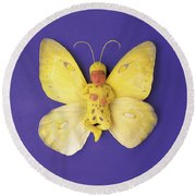 Fiona Butterfly Round Beach Towel