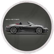 The Boxster Round Beach Towel