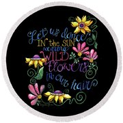 Let Us Dance Two Round Beach Towel
