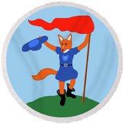 Reynard The Fairy Tale Fox Round Beach Towel