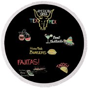 The American Grill Round Beach Towel