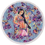 Dancing In The Mystery Of Shahrazad Round Beach Towel