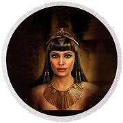 Cleopatra Round Beach Towel