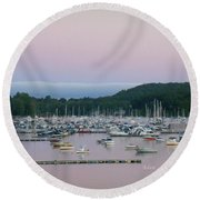 Sunrise Over Mallets Bay Variations - Two Round Beach Towel
