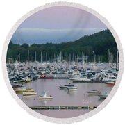 Sunrise Over Mallets Bay Panorama - Two Round Beach Towel
