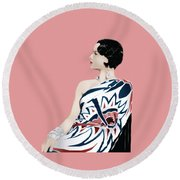 Louise Brooks In Hollywood Round Beach Towel