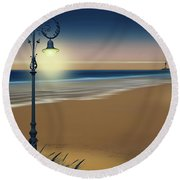 Beach And Coastal Lighting Round Beach Towel