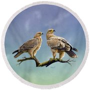 Tawny Eagles Round Beach Towel