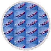 Western Banded Gecko Round Beach Towel