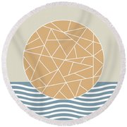 Maybe The Sea Round Beach Towel