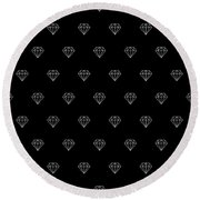 Pattern With Diamonds Round Beach Towel