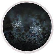 Snowflake Photo - When Winters Meets - 2 Round Beach Towel by Alexey Kljatov