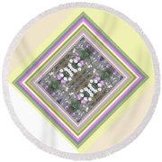 Hill Of Flowers Double Round Beach Towel