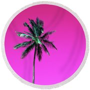 Palm Tree Puerto Rico Round Beach Towel