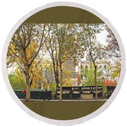 Notre Dame From The Window Round Beach Towel