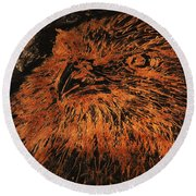 Eagle Metallic Copper Round Beach Towel