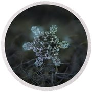 Real Snowflake - Slight Asymmetry New Round Beach Towel