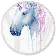 Cotton Candy Unicorn Round Beach Towel