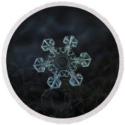 Real Snowflake - Ice Crown New Round Beach Towel