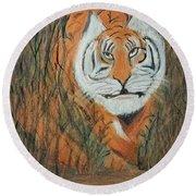 Roaring Tiger James Round Beach Towel
