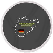 The Nurburgring Nordschleife Round Beach Towel