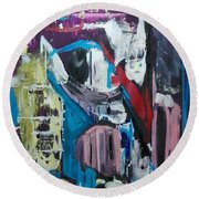 Apparitions, Ghosts  And Grottos Round Beach Towel