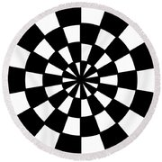 Op Art Round Beach Towel