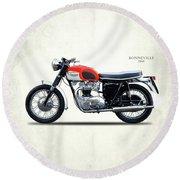 Triumph Bonneville 1966 Round Beach Towel