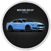 Mustang Shelby Gt350 Round Beach Towel