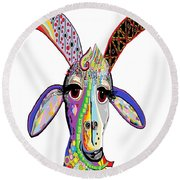 Somebody Got Your Goat? Round Beach Towel