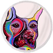 Doberman Round Beach Towel
