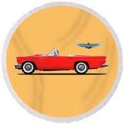 Ford Thunderbird 1957 Round Beach Towel