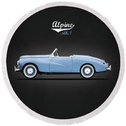 Sunbeam Alpine Sport 1953 Round Beach Towel