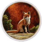 Sun Fox Round Beach Towel