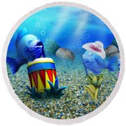 Tropical Vacation Under The Sea Round Beach Towel