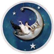 Paper Moon Round Beach Towel