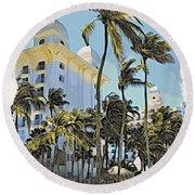 Aruba Palms Two Round Beach Towel