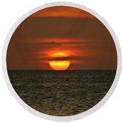 Arubian Sunset Round Beach Towel