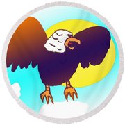 As High As An Eagle Round Beach Towel