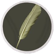 As Light As A Feather Round Beach Towel