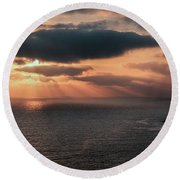 As The Day Ends Round Beach Towel