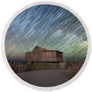 As The Stars Passed By  Round Beach Towel