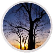 As Twilight Approaches Round Beach Towel