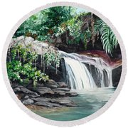 Asa Wright Falls      Sold Round Beach Towel