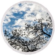 Ascending To Infinity Round Beach Towel